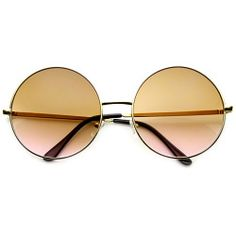 5740dcac79 Women s Metal Oversized Two-Toned Color Tinted Round Sunglasses