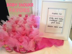 Baby Shower Favors For Girls | Here's what I handed out for the FAVORS: