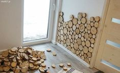 Wooden Wall Design, Wooden Walls, Wooden Wall Lights, Earthy Home Decor, Diy Home Decor, Home Projects, Home Crafts, Home Decor Shelves, Diy Casa
