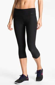Love these pants. Nice no-squeeze waistband and good no-see-thru weight..   Nike 'Legend 2.0' Capris  - P.S:You can lose weight fast using these natural drops from-> Nike Outfits, Sport Outfits, Girly Outfits, Stylish Outfits, Workout Attire, Workout Wear, Workout Outfits, Athletic Outfits, Athletic Wear