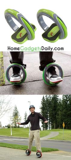 The Orbit skates so much cooler than a skateboard!  Holiday gifts idea. #fancy #gadget