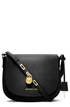 MICHAEL Michael Kors 'Large' Saffiano Leather Messenger Bag | Nordstrom