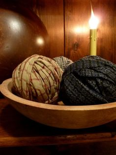 Rag Balls, easy to add some color, great idea