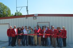We had a great turnout for the Merrill Self Storage Ribbon Cutting!  Look at all those red coats!