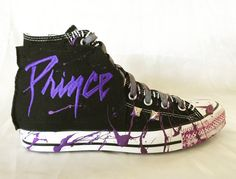 Prince All Star shoes by Chad Cherry by ChadCherryClothing on Etsy