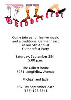 43 best oktoberfest invitations images on pinterest oktoberfest find largest selection of oktoberfest fun party invite online save with our 10 free oktoberfest fun party invite from cardsshoppe stopboris Gallery
