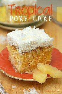 Tropical Poke Cake - Freshly Photographed