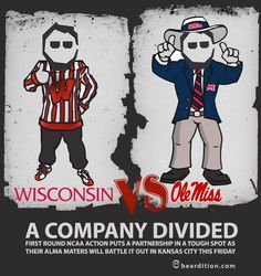 Who will get office bragging rights? #WisconsinBadgers vs #OleMissRebels
