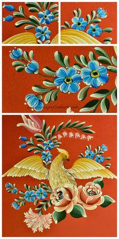 Atelier Gina Pafiadache: Pintando um risco completo - Pássaro com flores - ...