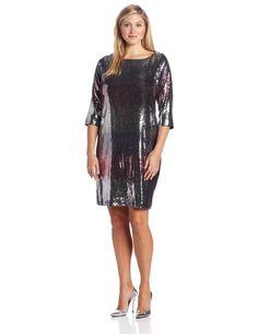 Karen Kane Women's Versailles Sequin Plus Size Dress - http://www.amazon.com/gp/product/B00FFYRC8Y/ref=as_li_ss_tl?ie=UTF8&camp=1789&creative=390957&creativeASIN=B00FFYRC8Y&linkCode=as2&tag=pintr20-20