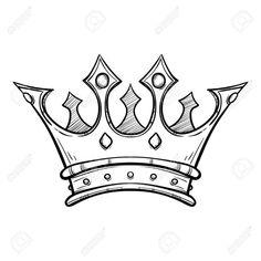Stock Vector – Stock Vector – – Graffiti World King Crown Tattoo, Crown Tattoo Design, King Tattoos, Tattoo Design Drawings, Pencil Art Drawings, Art Sketches, Music Drawings, Tattoo Designs, Tattoo Ideas