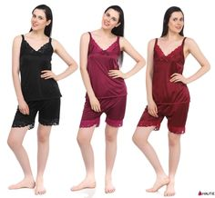 Hautie Ladies Pyjama Set PJ's Shorts Vest Black Womens Summer Nightwear 8-14 in Clothes, Shoes & Accessories, Women's Clothing, Lingerie & Nightwear | eBay