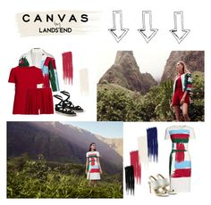 """Paint Your Look With Canvas by Lands' End: Contest Entry"" by littlelook on Polyvore featuring Lands' End and Canvas by Lands' End"