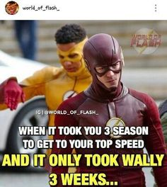 Kid Flash and The Flash