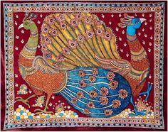 Paying my credits to these sites MY ART.: PEACOCK Please check these below link for More Kalamkari motifs SummersofIndia: October Kalamkari Designs, Peacock Images, Kalamkari Painting, Indian Folk Art, Outline Drawings, Feather Art, Indian Patterns, Krishna Art, Fashion Painting