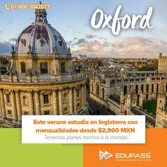 ¿Deseas pasar un verano increíble en #Oxford #Inglaterra? Con #EnjoyLanguages y Edupass es posible y con costos super accesibles. Solicita más información sin compromiso: 01 800 5042073 #EnjoyLanguages #Learn #Explore #EstudiaenelExtranjero