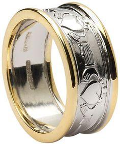 Claddagh Wedding Ring with Rims