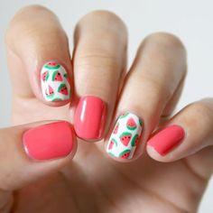 Nail Art Designs 💅 - Cute nails, Nail art designs and Pretty nails. Cute Nail Art, Beautiful Nail Art, Cute Nails, Pretty Nails, Easy Nail Art, Gorgeous Nails, Beautiful Pictures, Fruit Nail Designs, Cute Nail Designs