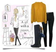 """""""passion"""" by tuaptstore on Polyvore featuring Hansen, girl, CasualChic, fashionset and fw1617"""