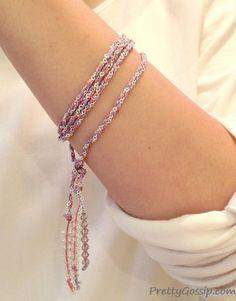 DIY Jewelry DIY Bracelet DIY Silk x Chain Braid Bracelet Necklace