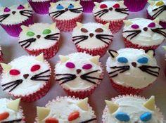 easy decorate  puppy cupcakes | Cat Cupcake Designs