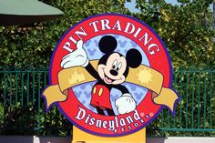 Disney Pin Trading Sign