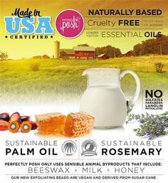What is Perfectly Posh?  I'm so glad you asked! Posh sells naturally-based pampering products. We give you the best ingredients sourced from all over the world and import them to the USA to handcraft them with the highest standards. You can confidently use our products knowing that they {NEVER} have any petroleum derived ingredients, including SLS, parabens, and parrafins.  We don't use gluten fillers, soy fillers, or lanolin. The ingredients we use are the best for you and your family, and…