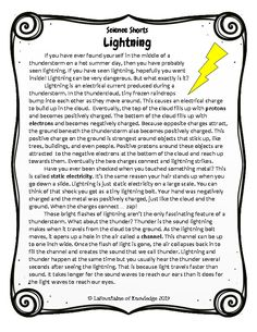 Evaporation and Transpiration Reading Comprehension Passage What Causes Thunder, What Causes Lightning, Reading Comprehension Passages, Comprehension Questions, 9th Grade English, 5th Grade Science, Christian School, Word Families, Guided Reading