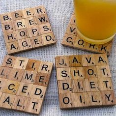 DIY Gifts: Scrabble Coasters