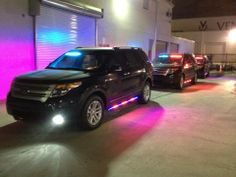Medley Police Department 2013 Ford Interceptor SUV PPV Command Units with HG2 Blue/Red Front Interior Light Bars and HG2 Blue/Red Side Runners