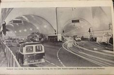 Inside the Mersey tunnel