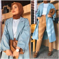 How to be elegant hijabista | | Just Trendy Girls Floppy Hats, Hijab Chic, Winter Accessories, Hijab Fashion, Beautiful Outfits, Work Wear, Winter Outfits, Shirt Dress, Elegant