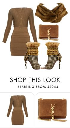 """Untitled #2119"" by styledbycharlieb ❤ liked on Polyvore featuring Balmain, Christian Louboutin, Yves Saint Laurent and Barneys New York"