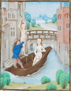 later 15th century (1479) Southern Netherlands - Bruges: Escape of Arsinoe Tumblr: illumanu