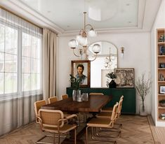 Photo 20 of 20 in Here Are the 10 Interior Design Trends That Will Rule 2020 from Reimagined Edwardian - Dwell Interior Design Trends, Interior Design Minimalist, Modern Design, Dining Room Inspiration, Home Decor Inspiration, Design Inspiration, Blue Ceilings, Traditional House, Traditional Interior