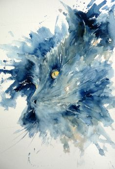 Art By Boon - Watercolor by Joanne Boon Thomas, Black Cat