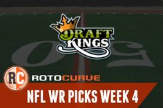 DraftKings NFL Picks Week 4: Wide Receivers