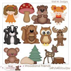 Woodland Friends Northwoods - Kristi W Designs Clip Art