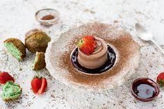 Salted caramel chocolate frozen parfait
