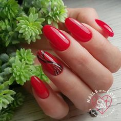 Red Nail Art, Red Nails, Hair And Nails, Holiday Nails, Christmas Nails, Red Nail Designs, Acrylic Nail Designs, Cute Nails, Pretty Nails