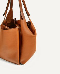 Image 5 of LEATHER BUCKET BAG from Zara