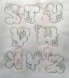Pintura em Tecido Passo a Passo: ALFABETOS pra pintura em toalhas