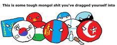 Mongol gang Mongolia, Hetalia, Smurfs, Disney Characters, Fictional Characters, Foundation, Map, Humor, Comics
