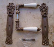 Geschenknet Antik Messing Tür Griffe Türgriffe Langschild BB 72 Klinken S15-1AW