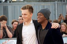 Caspar & KSI at their premiere