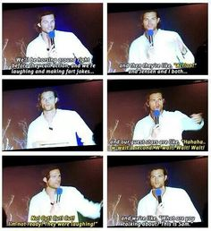"""""""What are you talking about? This is Sam."""" Horseing around one moment, shooting the next - leaving guest stars flailing. :-) #Supernatural"""