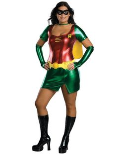 Check out Womans Robin Costume - Plus Size Batman Halloween Costumes from Costume Super Center