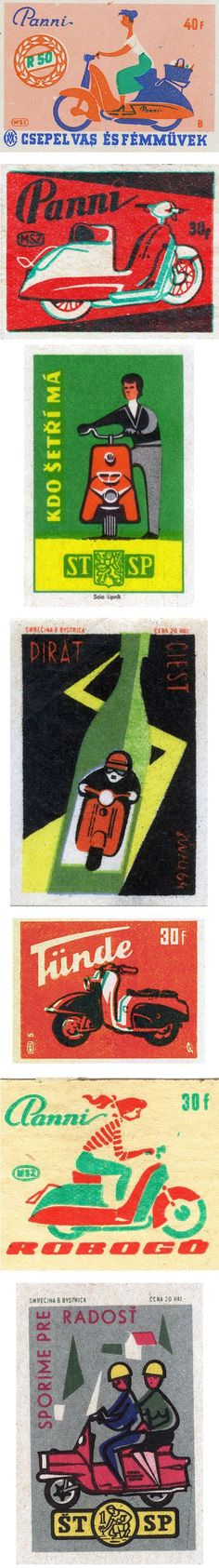 Vintage scooter matchbook covers