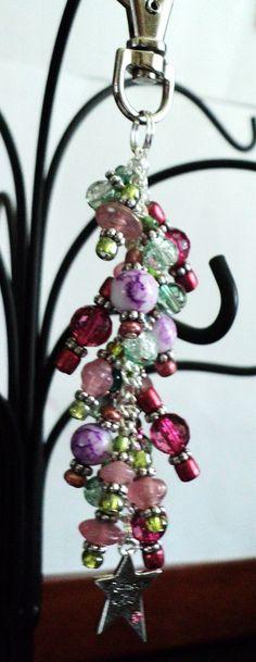 Handbag Charm Zipper Pull Purse Charm Pink by uniquelyyours2010