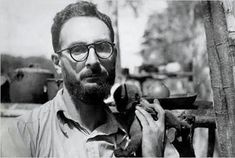 """Claude Lévi-Strauss with little monkey Lucinda, Brazil c.1935 